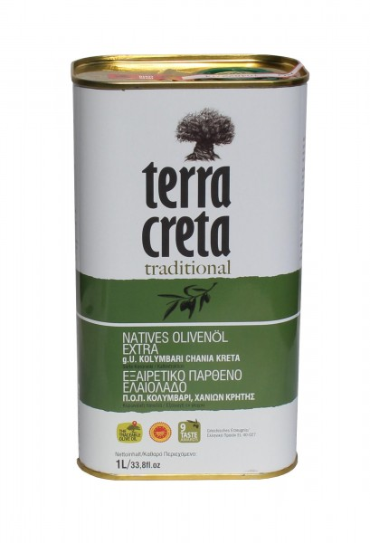 Terra Creta Traditional extra natives Olivenöl Kolymvari g.U. 1L