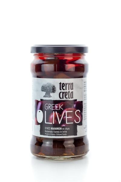 Terra Creta Kalamata griechische Oliven im Glas 315ml