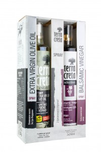 Terra Creta Estate + Balsamico Essig Spray je 250ml Geschenkbox