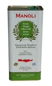 Evripidis MANOLI Extra Natives Olivenöl 5L Kaniter