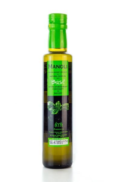 Evripidis MANOLI Basilikum Olivenöl Extra Native 250ml Flasche