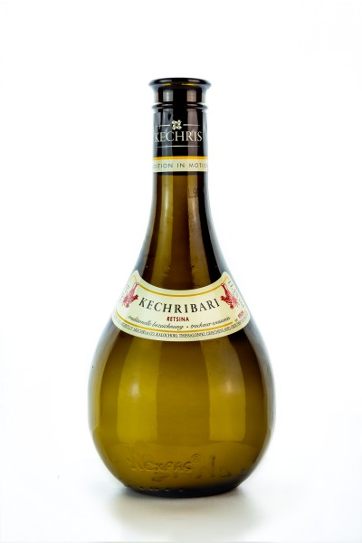 Stelios Kechri Retsina Kechribari Weißwein 500ml Flasche