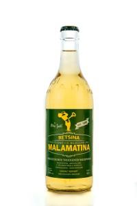 Malamatina Retsina gehartzer Weißwein 11% 500ml...