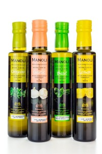 Manoli Flavours Olivenöl Probier Set 4x250ml Flasche