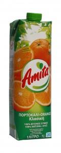 Amita Orangenfruchtsaft 100% 1000ml