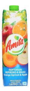 Amita Fruchtnektar Orange-Aprikose-Apfel 40% 1000ml