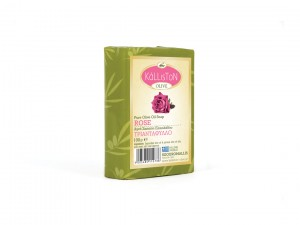 Kalliston Traditional Olivenöl Seife Rose 100g Stück