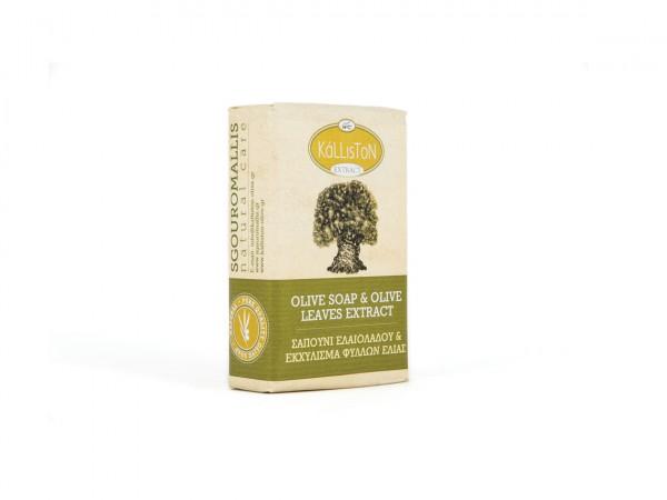 Kalliston Olivenöl Creme Seife Olivenblätter Extrakt 100g Stück