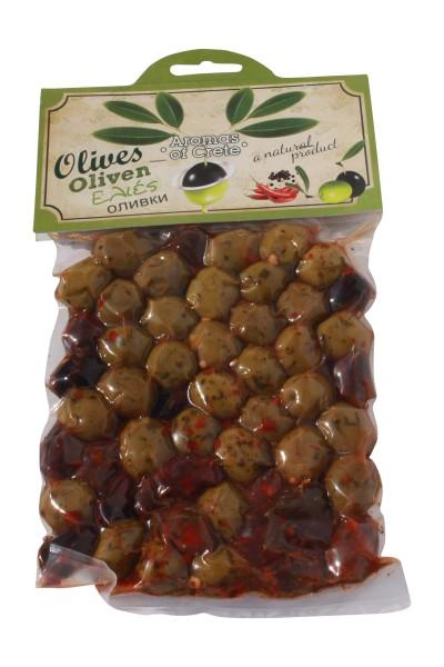 Aromas of Crete Oliven MIX gewürzt Kreta 220g Beutel
