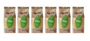 6x Agrino Fava Plattbohnen 500g Packung