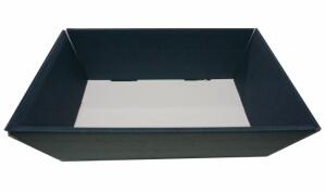 Geschenkkorb 33 x19 x10 cm dunkelblau inkl. Holzwolle