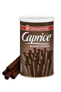 Caprice dunkle Schokolade 250g Dose von Papadopoulos