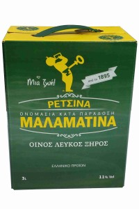 Retsina Malamatina Weißwein 3 Liter Bag in Box