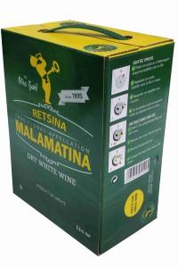 Retsina Malamatina Weißwein 3 Liter Bag in Box