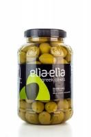 Elia-Elia grüne griechische Chalkidiki Oliven Super Mammut im PET-Fass 1 KG