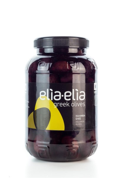 Elia-Elia griechische Kalamata Oliven Giants in PET-Fass 1 KG