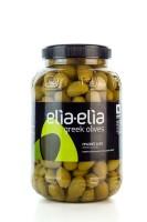 Elia-Elia Grüne griechische XL Chalkidiki Oliven Extra Large im PET-Fass 1 KG