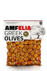 Amfelia grüne, scharfe griechische Chalkidiki Oliven...