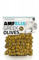 Amfelia grüne, in Oregano marinierte griechische Chalkidiki Oliven vakuumiert (350 g)