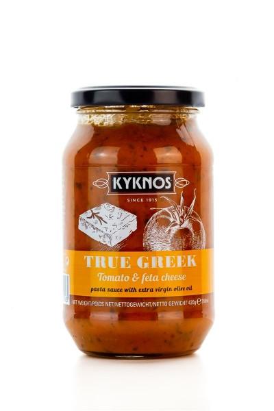 Kyknos leckere Pastasauce Tomatensauce mit Feta und Oregano (420g)