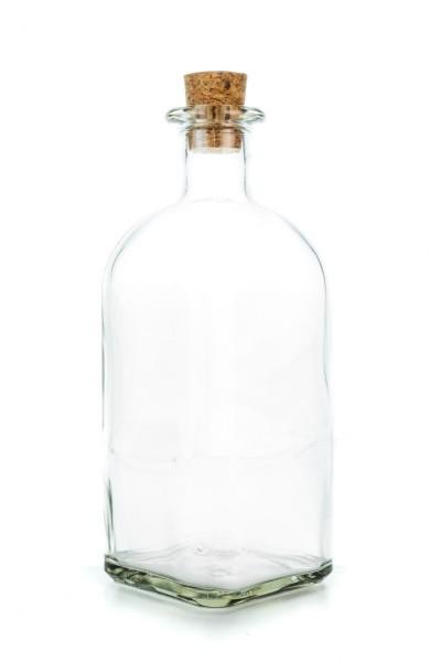 Feinkost Glasflasche mit Korken 1000ml