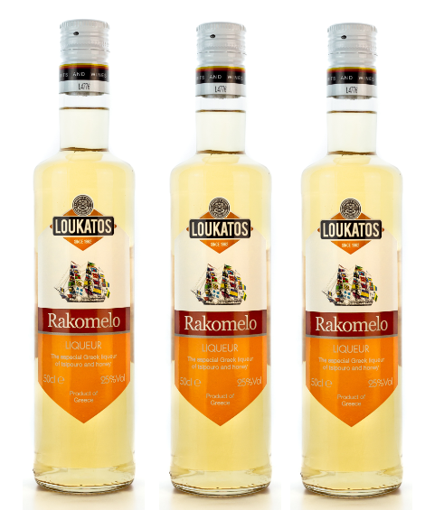 3x Rakomelo Loukatos 25% 500ml