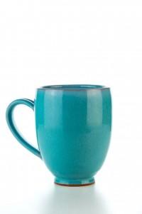 Original handgemachte Keramik Tasse Oval Groß von...
