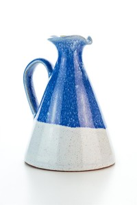 Original handgemachte kleine Keramik Olivenöl Kanne...