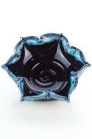 Hydria Original handgemachte Schale Blume klein von Kreta - schwarz blau