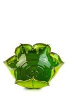 Hydria Original handgemachte Schale Blume Groß von Kreta - grün