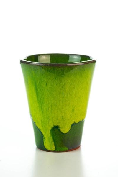 Hydria Original handgemachter Keramik Wein Becher von Kreta - grün