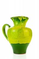 Hydria Original handgemachte Keramik Kanne von Kreta mittel - grün
