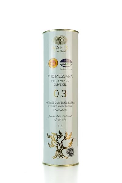 Vafis Extra natives Olivenöl PDO Messara 0,3% aus Sivas Kreta 1L