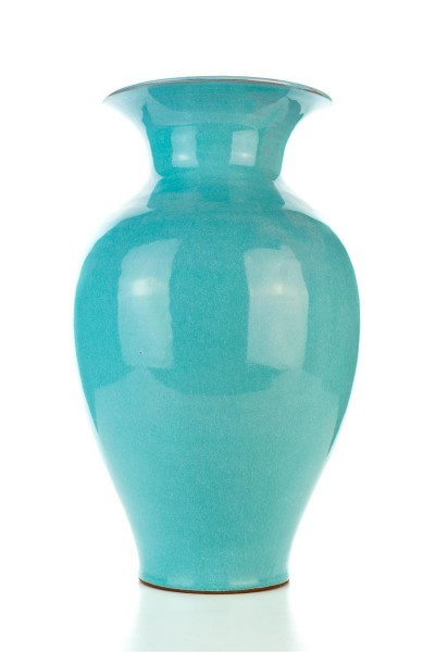 Hydria Original handgemachte Vase mittel von Kreta - türkis