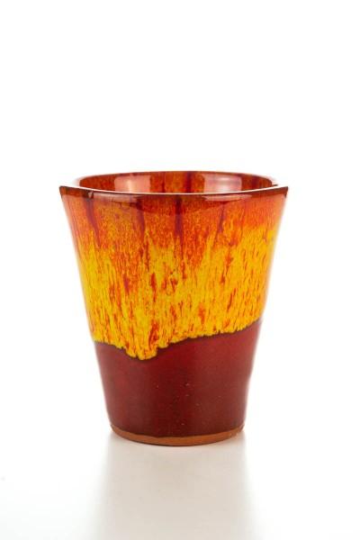 Hydria Original handgemachter Keramik Wein Becher von Kreta - rot