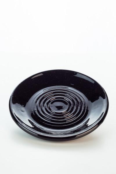 Hydria Original handgemachte Keramik Unterteller klein von Kreta - schwarz