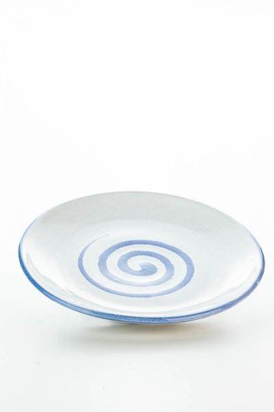 Hydria Original handgemachter Teller 20cm von Kreta - weiß blau