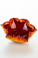 Hydria Original handgemachte Schale Blume Groß von Kreta - rot