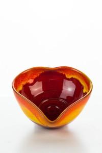 Kopie von Hydria Original handgemachte Schale Herz mittel von Kreta - rot