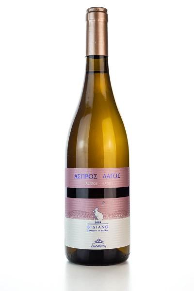 ASPROS LAGOS Weißwein Trocken (750ml/14%) Douloufakis