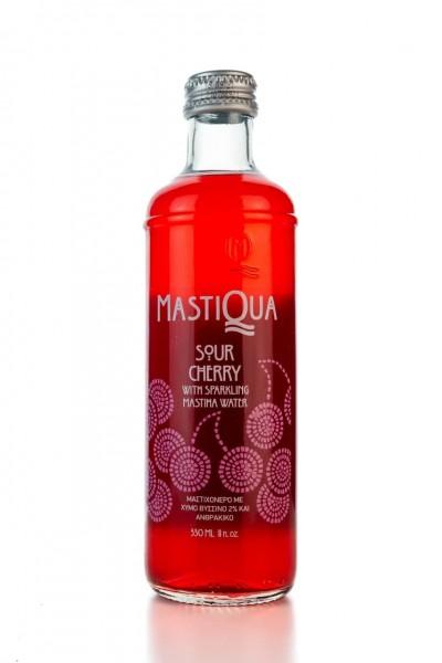 Mastiqua Sauerkirsche mit Spudelden Mastiha - Wasser (330 ml)  Von Mastiqua