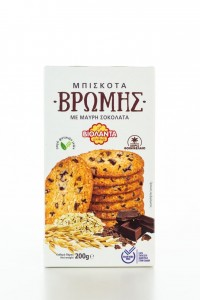 Haferkekse mit Schwarze Schokolade 200g von Violanta