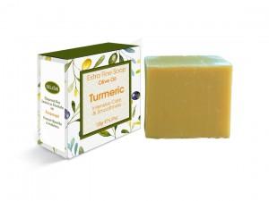Extrem feine Seife mit Olivenöl und Kurkuma 130gr