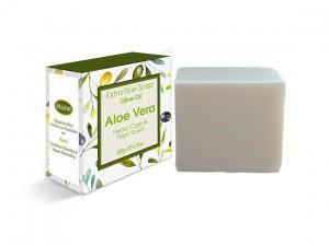 Extrem feine Seife mit Olivenöl und Aloe 130gr