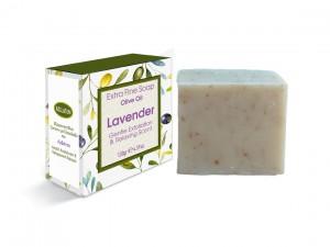 Extrem feine Seife mit Olivenöl und Lavendel 130 gr
