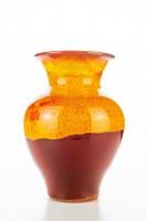 Hydria Original handgemachte Vase klein von Kreta - rot