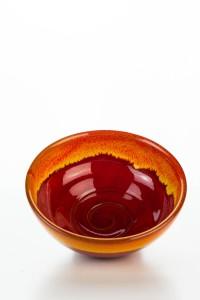 Hydria Original handgemachte Schale Spirale Nr. 2 (22 cm) von Kreta - rot