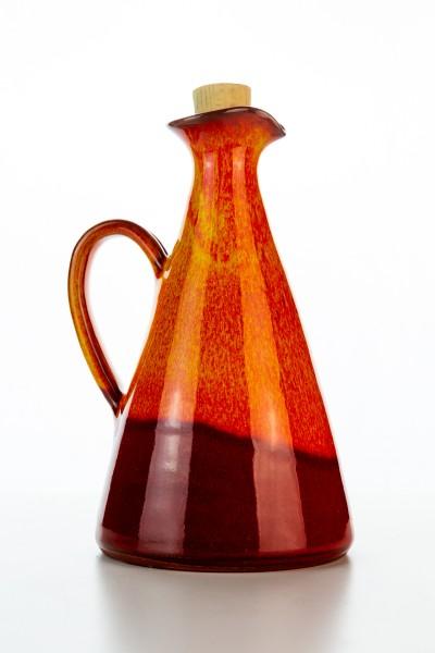 Hydria Original handgemachte Keramik Olivenöl Kanne klein von Kreta - rot