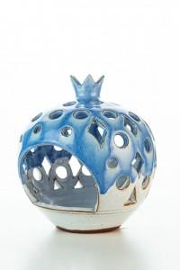 Hydria Original handgemachter Granatapfel Teelichthalter...