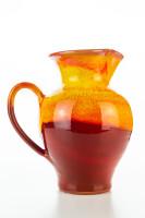 Hydria Original handgemachte Keramik Kanne von Kreta groß - rot
